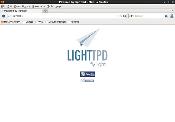 CentOS-Lighttpd-home-page