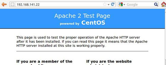 Install Apache on CentOS 6