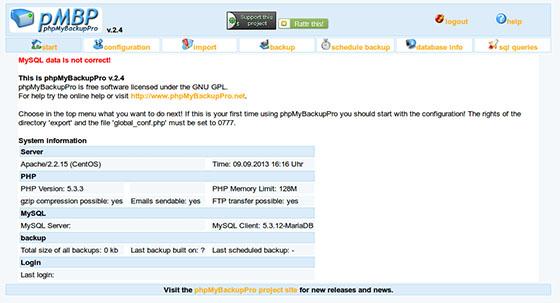Install phpMyBackupPro on CentOS 7