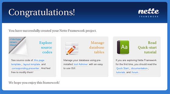 Nette-PHP-Framework
