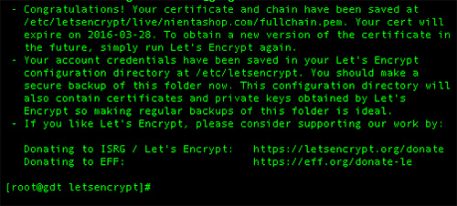 Install LetsEncrypt With Nginx on Ubuntu 15.04
