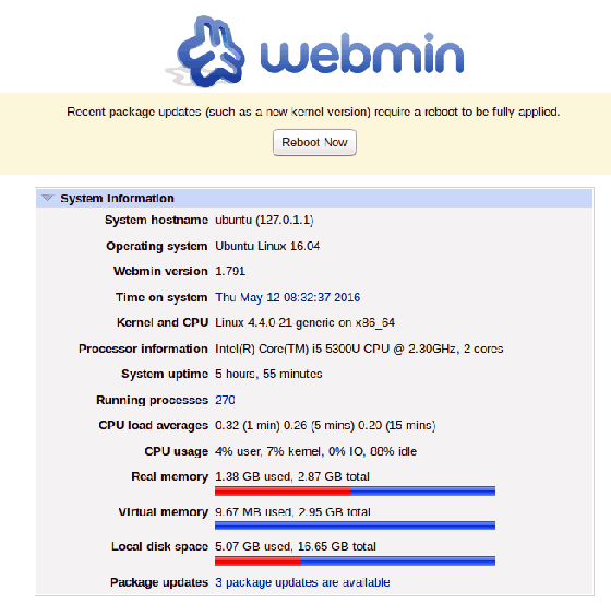 Install Webmin on Ubuntu 16.04