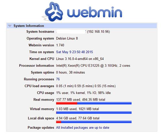 Install Webmin on Debian 8