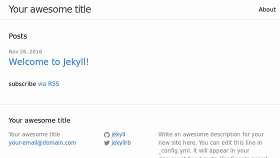 Install Jekyll on Ubuntu 16.04 LTS