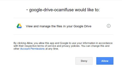 Install Google Drive Ocamlfuse on Ubuntu 16.04