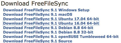 Install FreeFileSync on Ubuntu 16.04