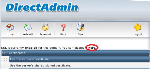 Install Let's Encrypt SSL using DirectAdmin
