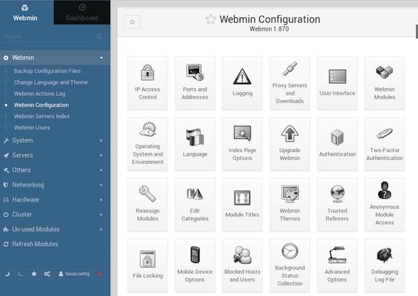 Install Webmin on Ubuntu 18.04 LTS