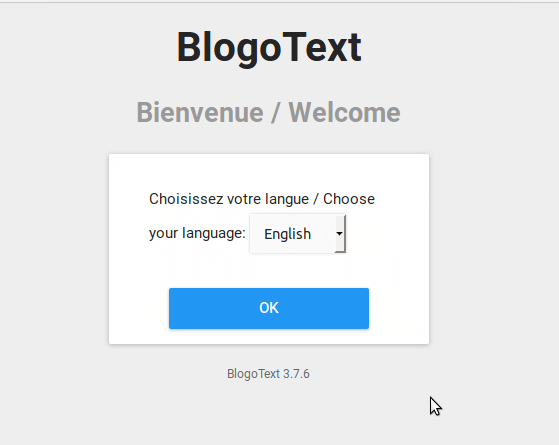 Install BlogoText CMS on Ubuntu 18.04 LTS