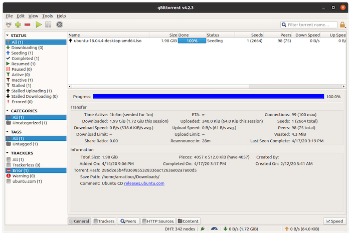 Install qBittorrent on Debian 10