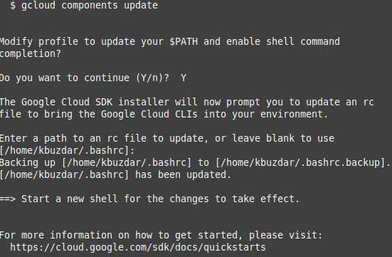 Install Google Cloud SDK on Ubuntu 20.04