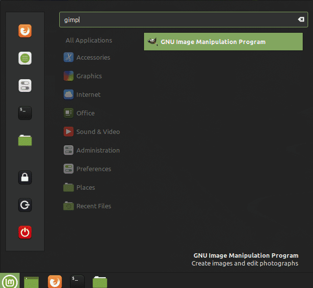 Install GIMP on Linux Mint 20