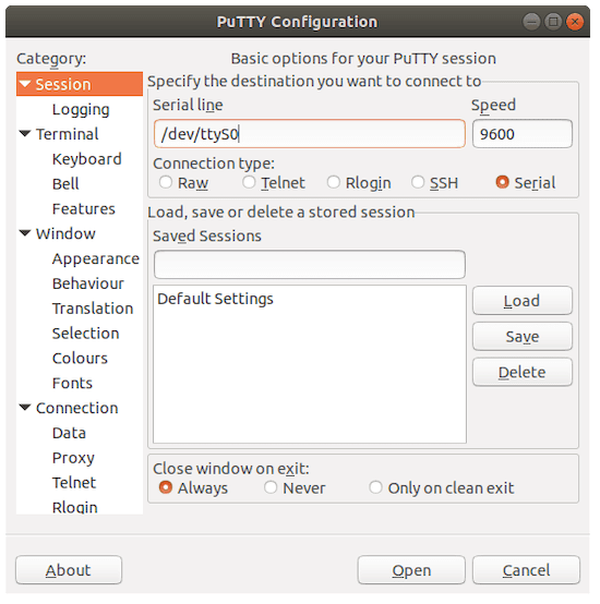 Install Putty on Ubuntu 20.04