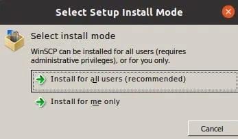 Install WinSCP on Ubuntu 20.04