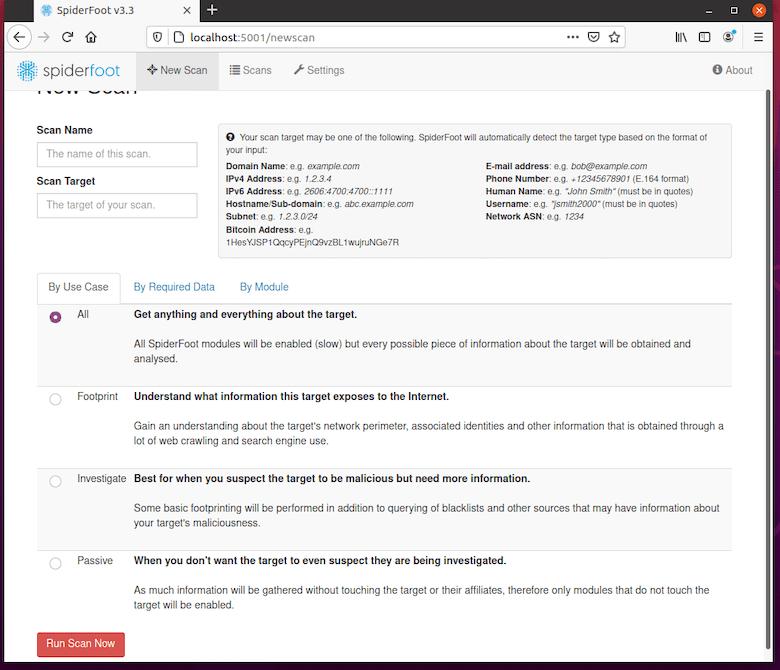Install SpiderFoot on Ubuntu 20.04