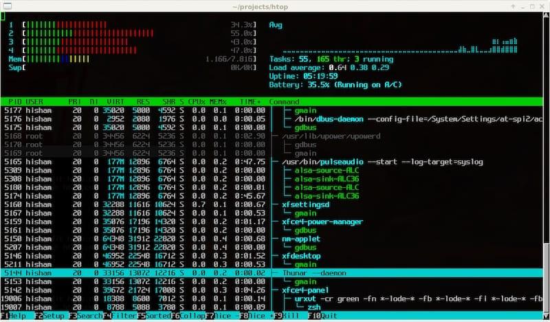 Install Htop on Ubuntu 20.04
