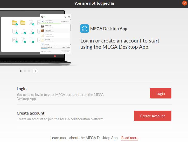 Install Mega Cloud Drive Sync on Ubuntu 20.04