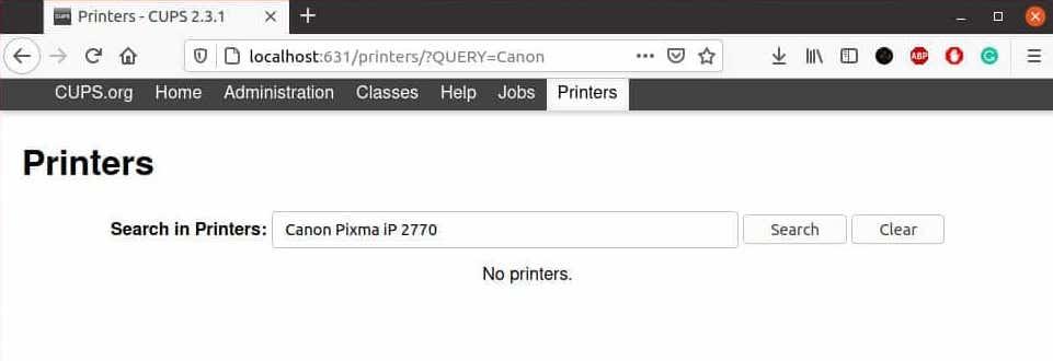Install Canon Printer Driver on Ubuntu