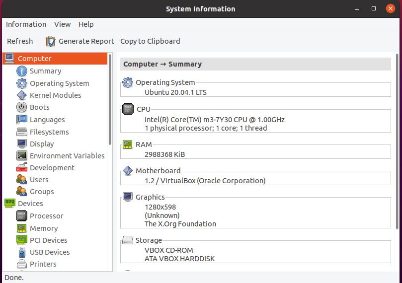 Install HardInfo on Ubuntu 20.04