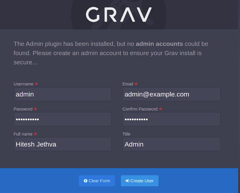 Install Grav CMS on Ubuntu 20.04