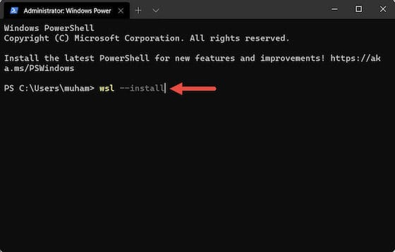 Install WSL (Windows Subsystem for Linux) on Windows 11