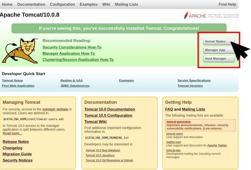 Install Apache Tomcat on AlmaLinux 8