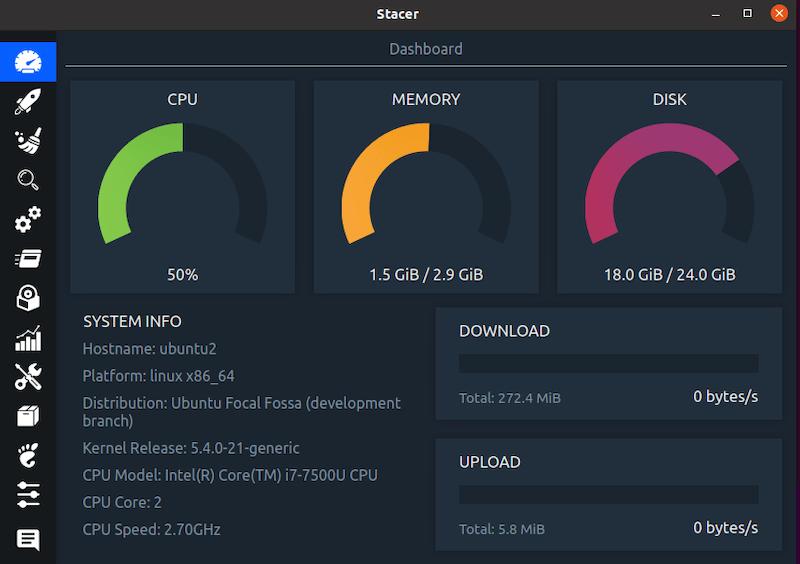 Install Stacer on Ubuntu 20.04 LTS Focal Fossa