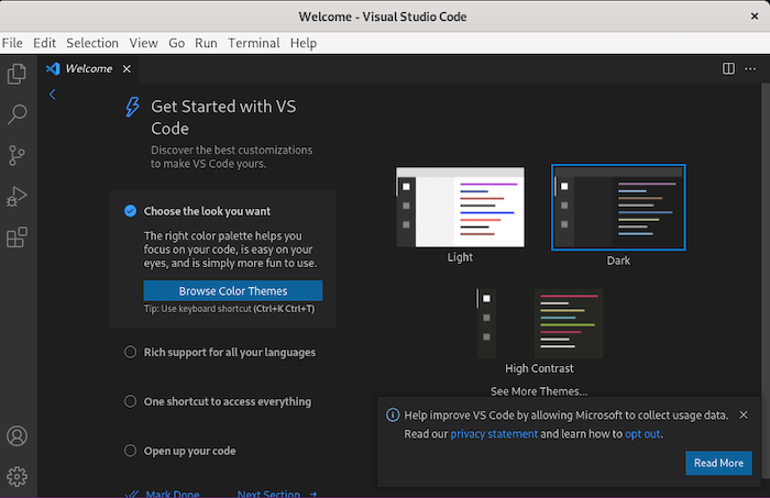 Install Visual Studio Code on Debian 10