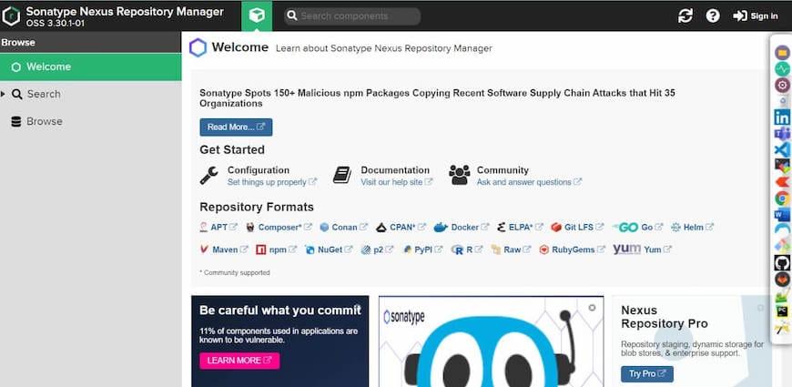 Install Nexus Repository on Ubuntu 20.04 LTS Focal Fossa